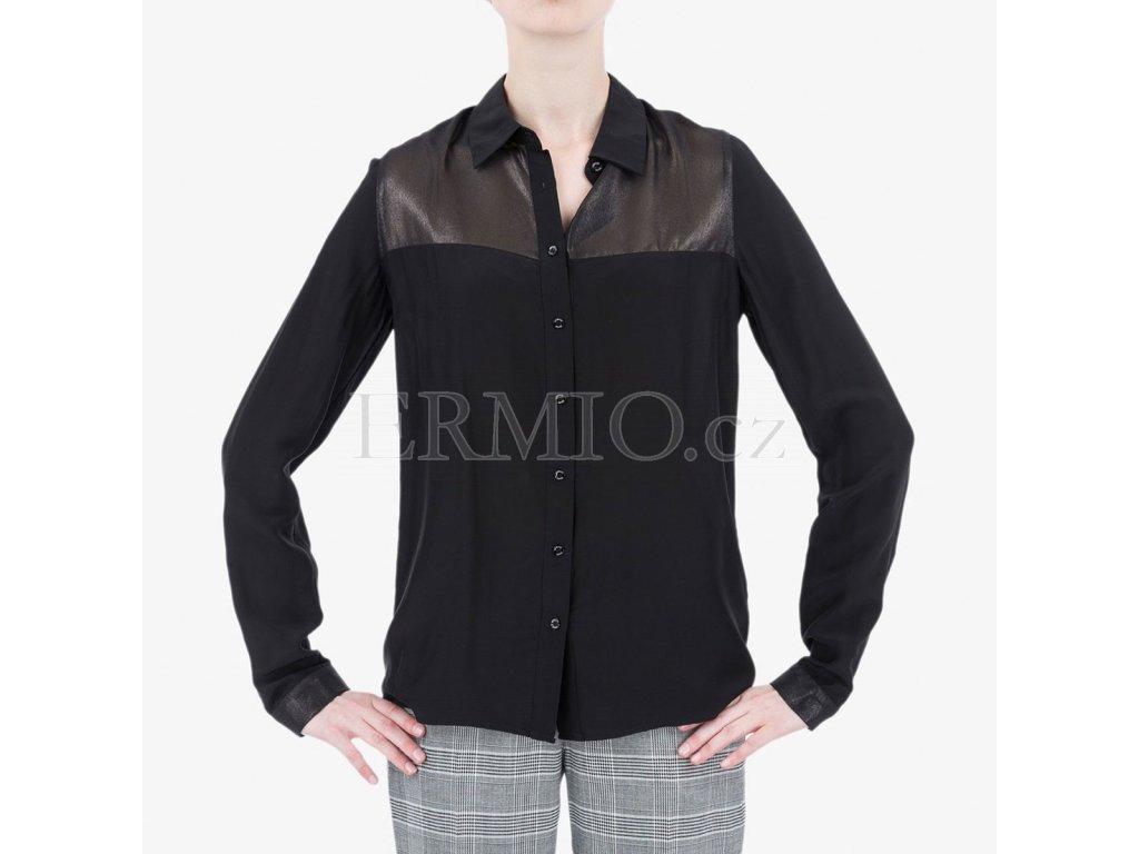 Luxusní Černá košile Armani Jeans v e-shopu   Ermio Fashion 38b9a8e1c4