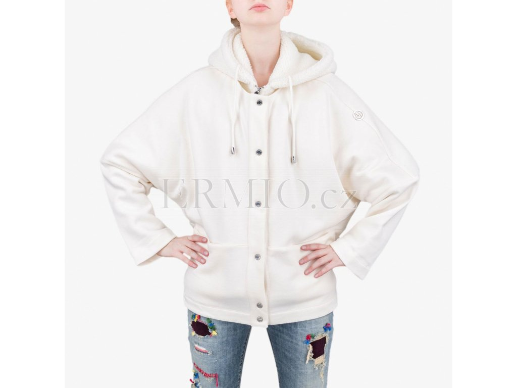 f99cbb63115 Luxusní Bílý kabát Armani Jeans v e-shopu   Ermio Fashion