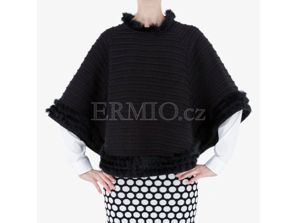 Luxusní Černé pončo Armani Jeans v e-shopu   Ermio Fashion 57acc23ba1