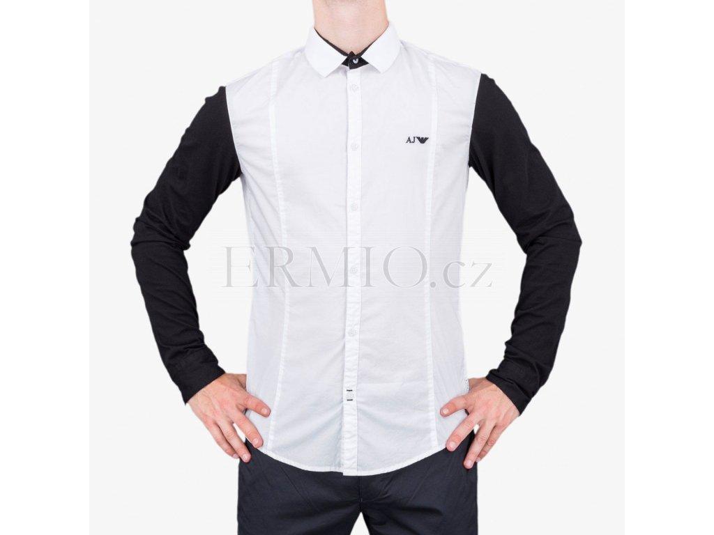 Luxusní Černobílá košile Armani Jeans v e-shopu   Ermio Fashion 98588ad9c8