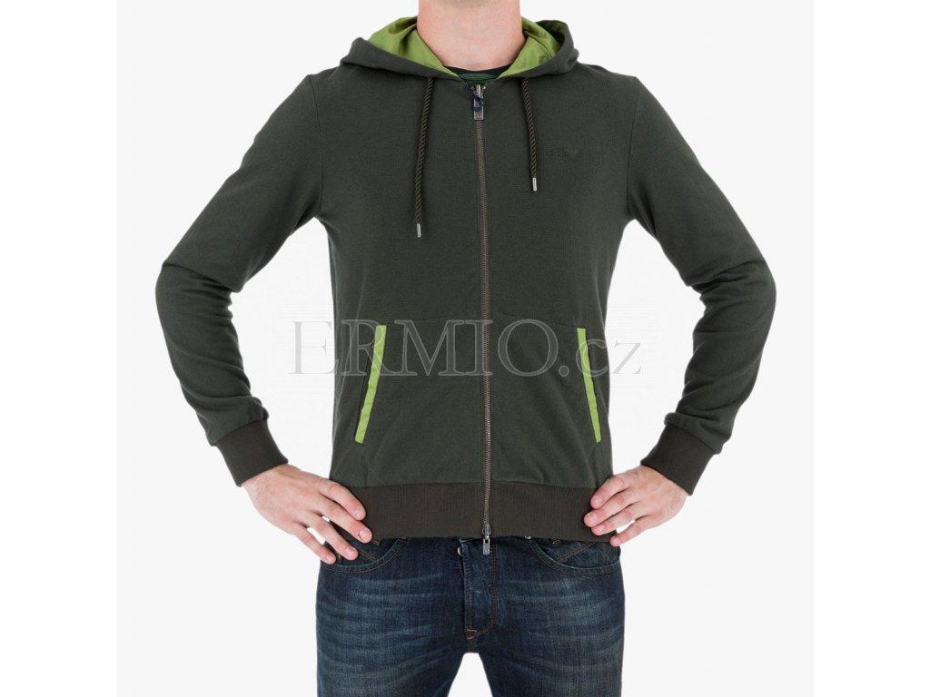 Zelená mikina/bunda Armani jeans