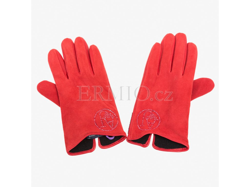 Červené rukavice Armani Jeans