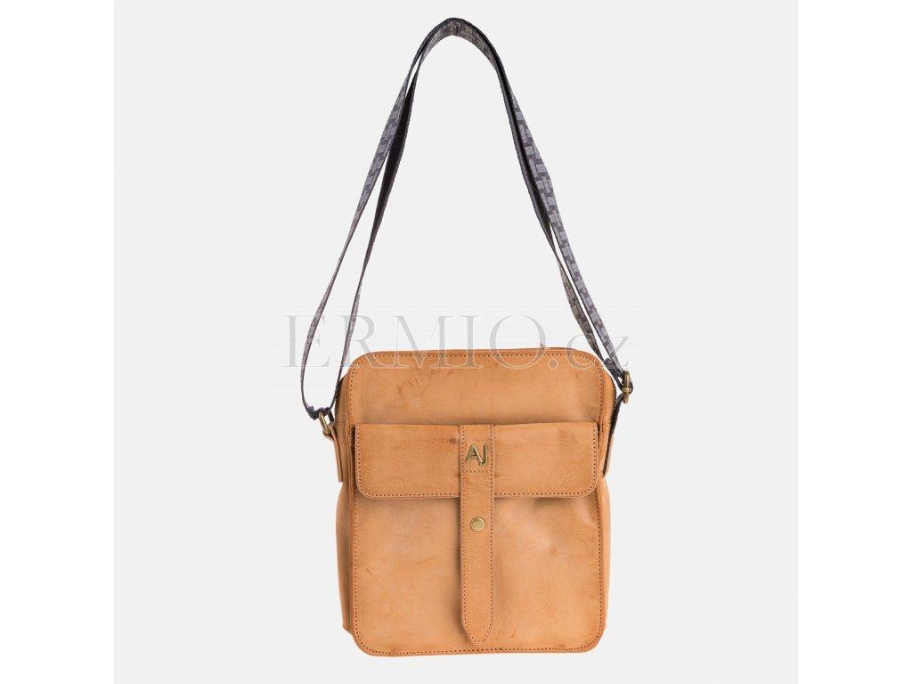 Luxusní Hnědý messenger Armani Jeans v e-shopu   Ermio Fashion 036e9effc36