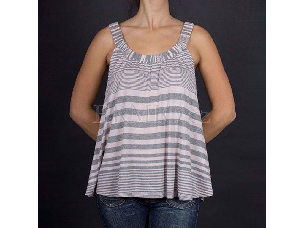 Tričko Armani šedé