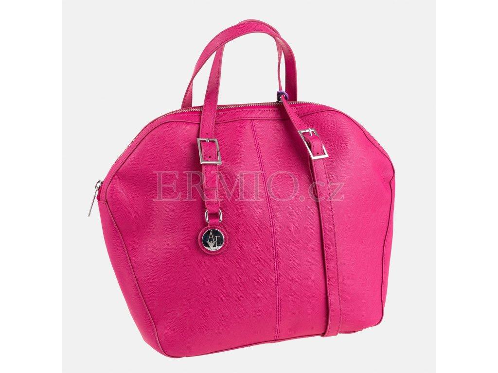 Růžová kabelka Armani Jeans