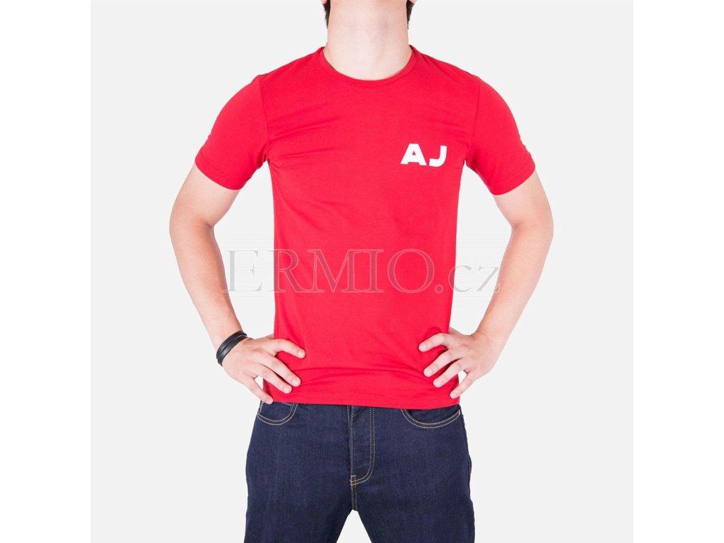 Tričko Armani Jeans červené