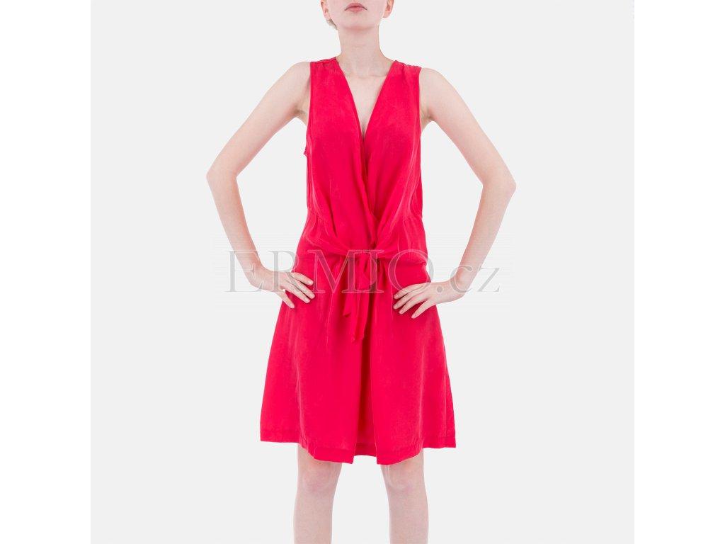 Letní zářivě malinové šaty Armani