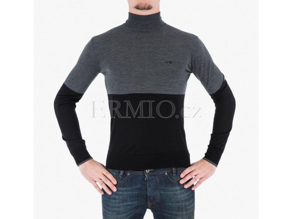 Luxusní Šedočerný rolák Armani Jeans v e-shopu   Ermio Fashion c866cf3849