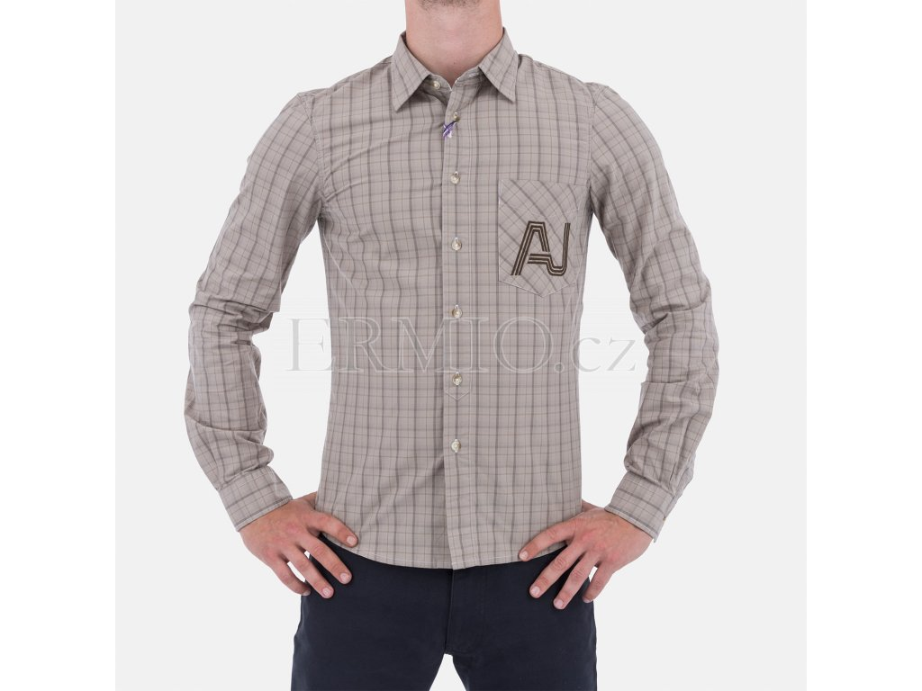 Pánská kostkovaná košile Armani
