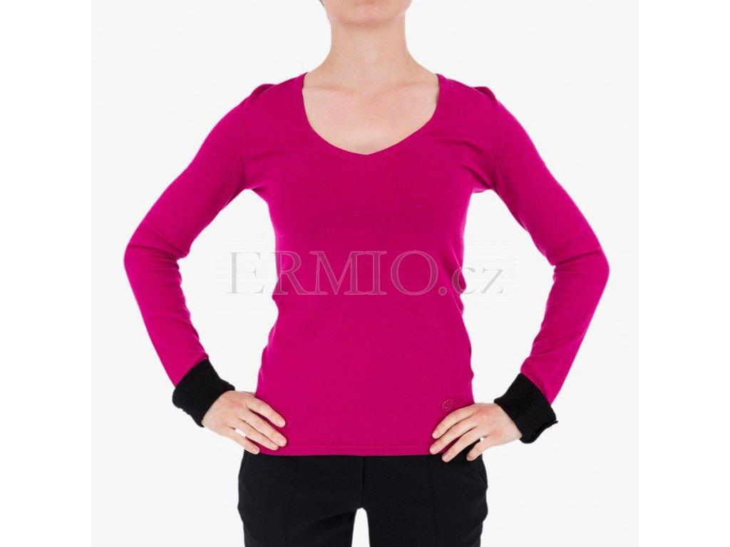 Luxusní Růžový svetr Armani Jeans v e-shopu   Ermio Fashion d375dba5e1
