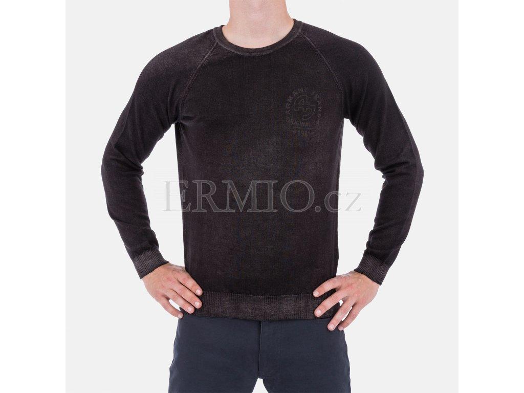 Značkový svetr Armani hnědý