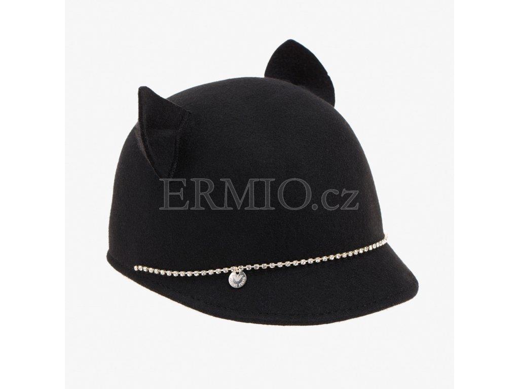 Černý klobouk Armani Jeans