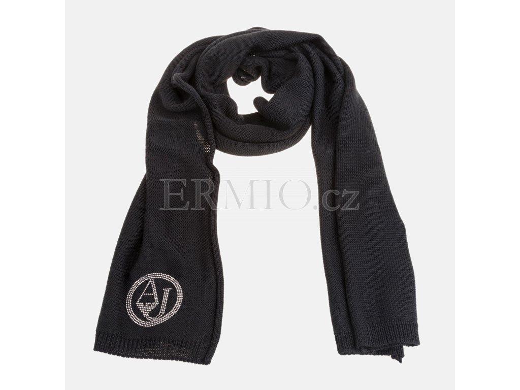 Luxusní Černá šála Armani Jeans v e-shopu   Ermio Fashion 663da2f151