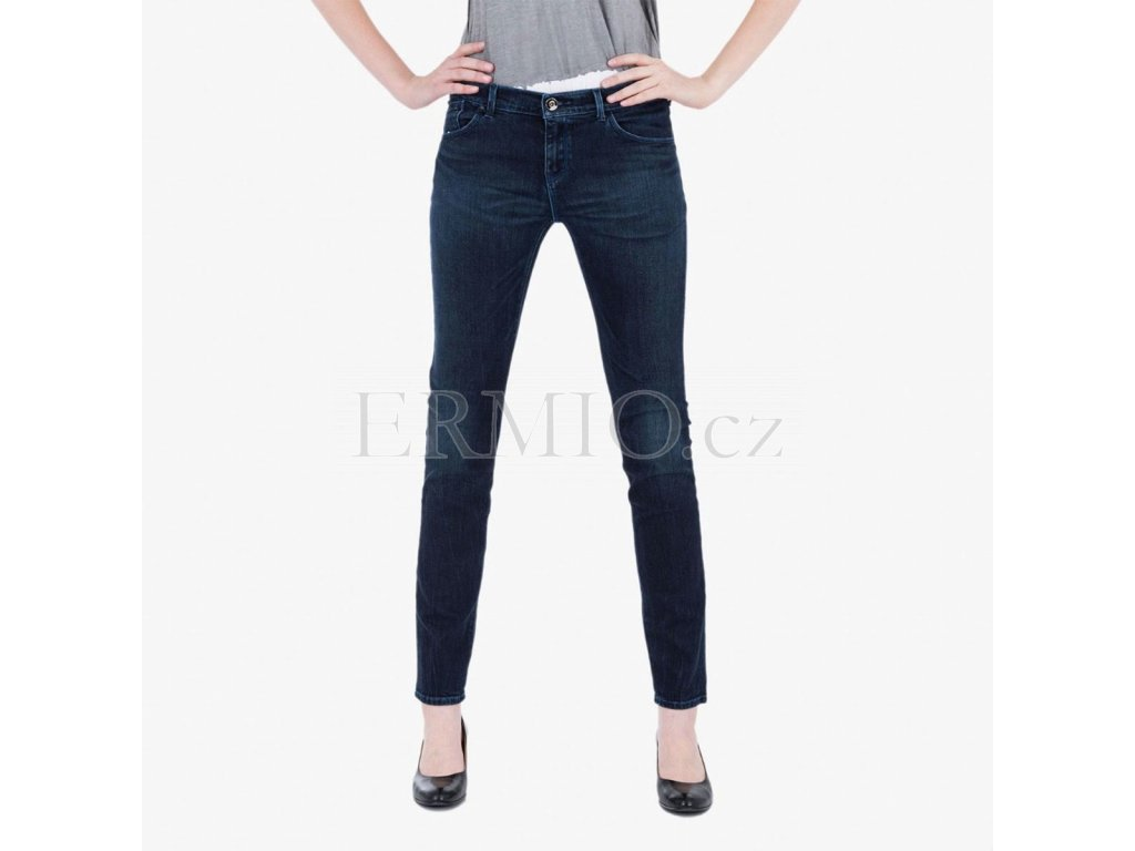 Modré džíny push up Armani Jeans