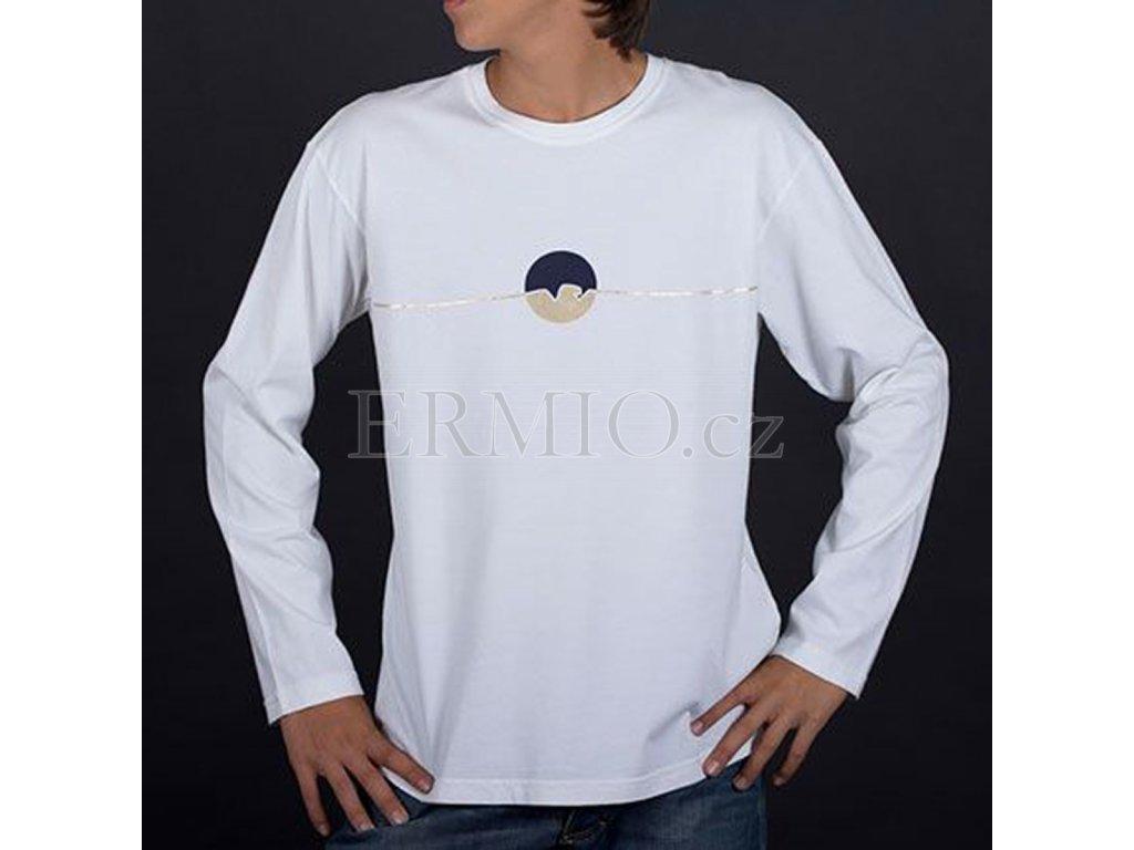 Tričko s dl. rukávem Armani bílé