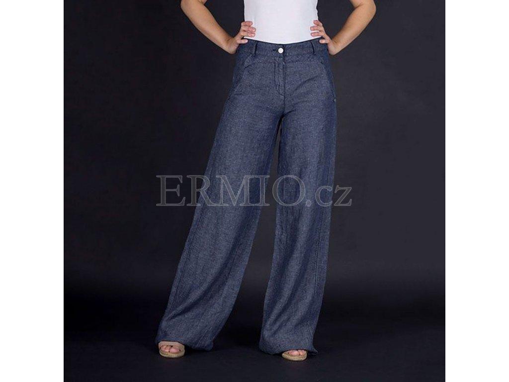 Kalhoty Armani šedo modré