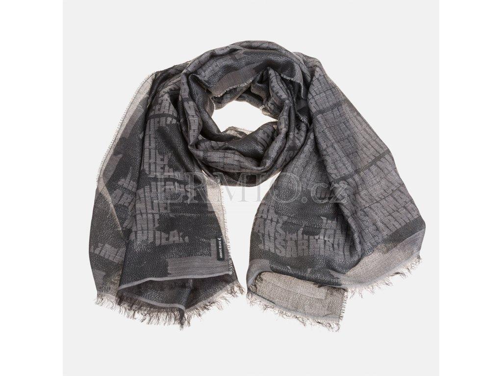 Černý šátek Armani Jeans