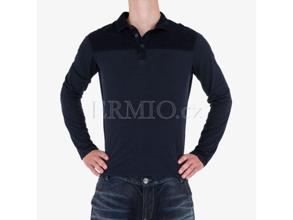 Modré polo tričko Armani Jeans