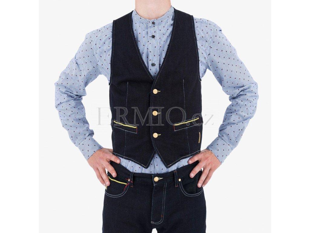 Modrá vesta Armani Jeans