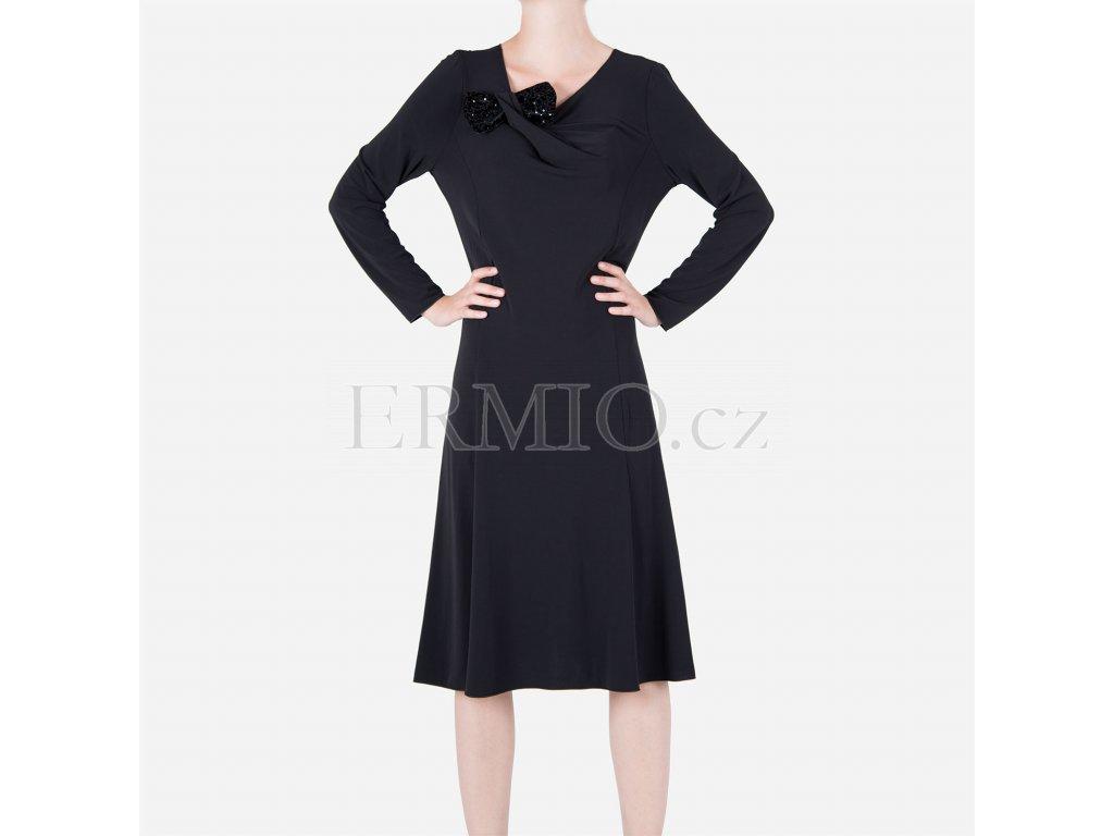 Luxusní Luxusní dámské černé šaty Armani Collezioni v e-shopu ... 5a71db080a
