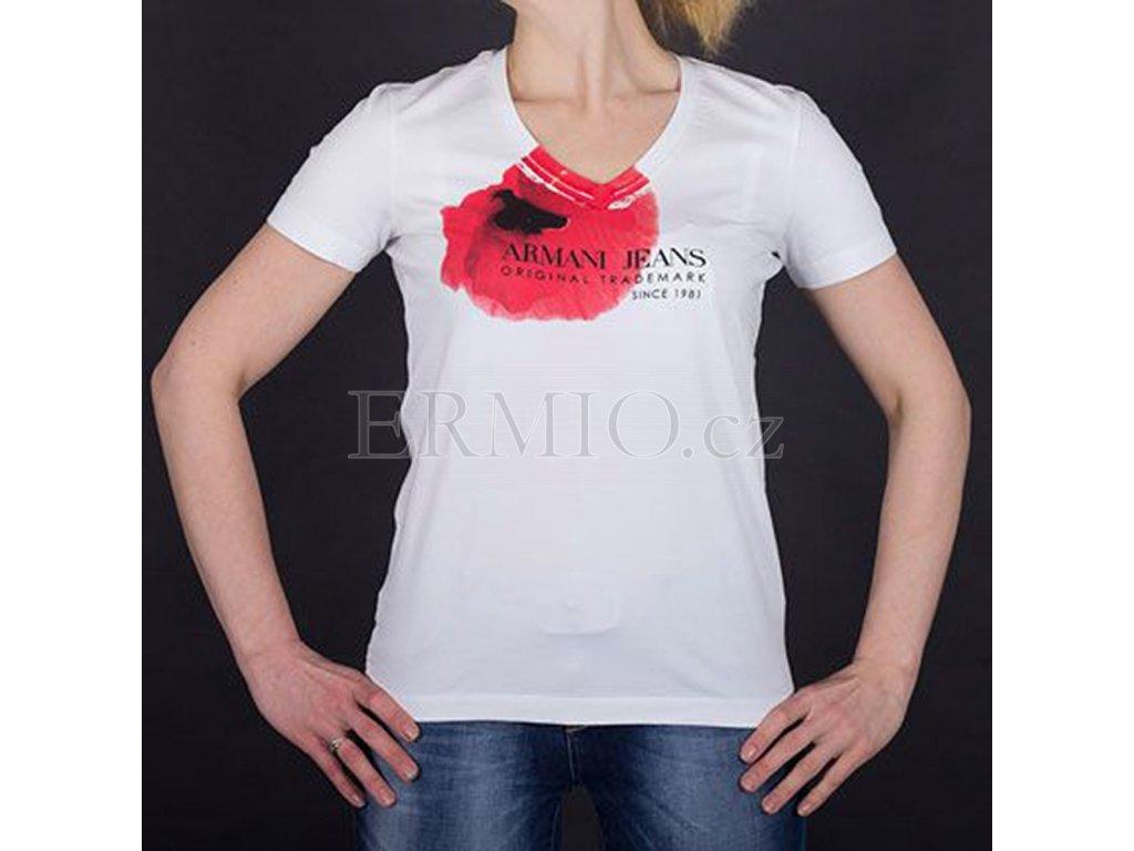 ec479ca3f Luxusní Značkové dámské tričko Armani bílé v e-shopu * Ermio Fashion