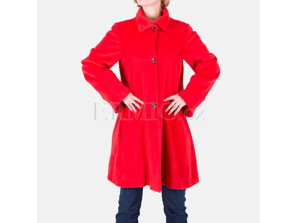 Luxusní Červený kabát Armani Collezioni v e-shopu   Ermio Fashion ffbf5a3130