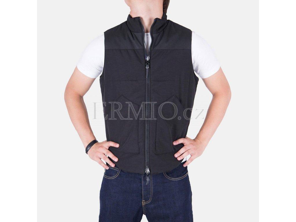Luxusní Stylová pánská vesta Armani Jeans černá v e-shopu   Ermio ... cbd98fbb30