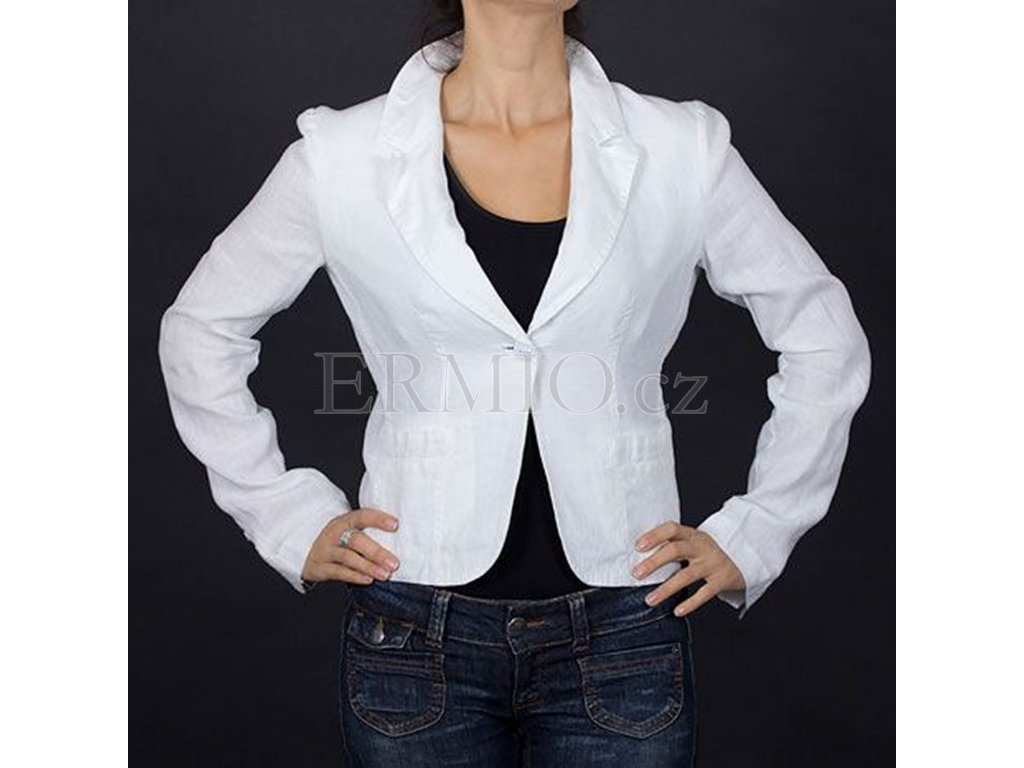 Značkové dámské sako Armani bílé