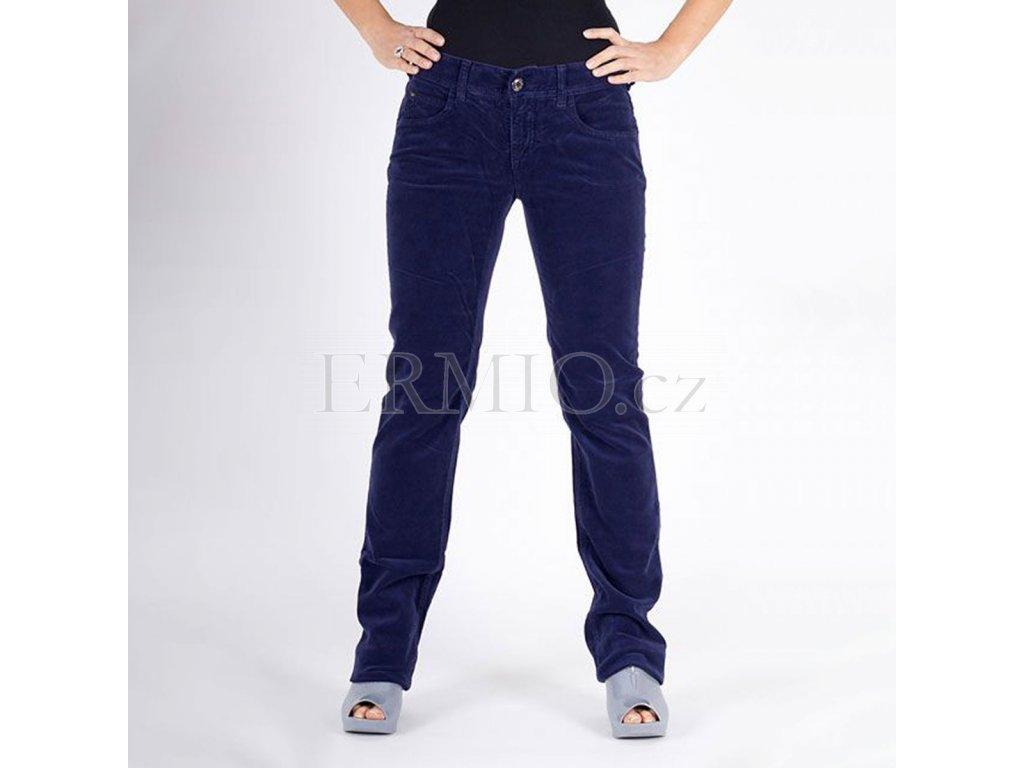 Dámské sametové džíny Armani modré