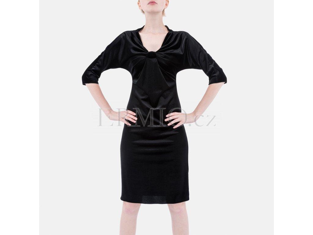 Luxusní semišové šaty Armani černé