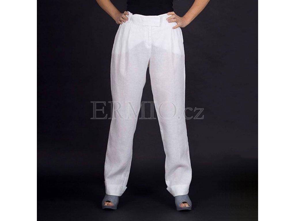 Dámské značkové kalhoty Armani bílé