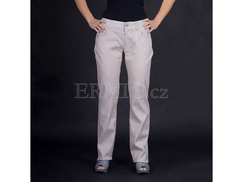 Značkové kalhoty Armani béžově