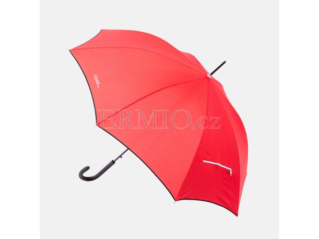 Značkový holový Deštník GF Ferre červený