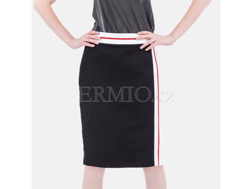 Značková sukně Armani Jeans černá