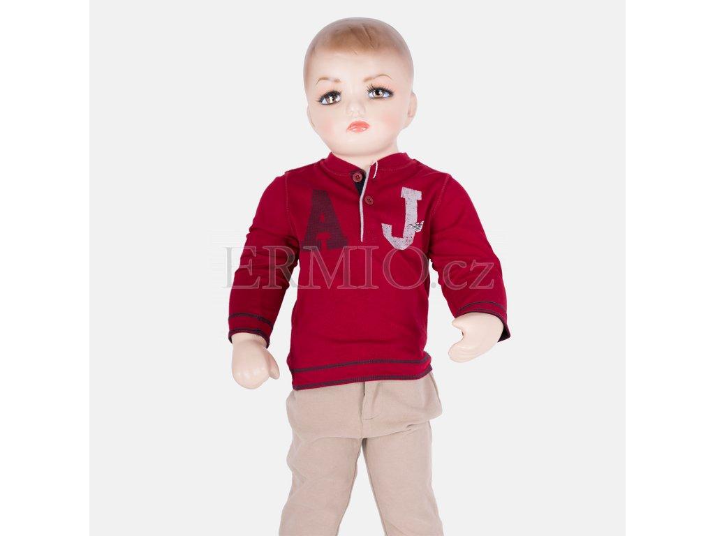 Krásné červené tričko Armani Baby