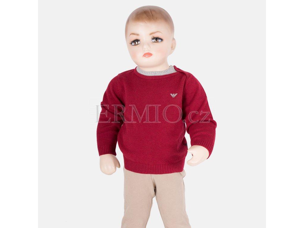 Krásný červený svetr Armani Baby
