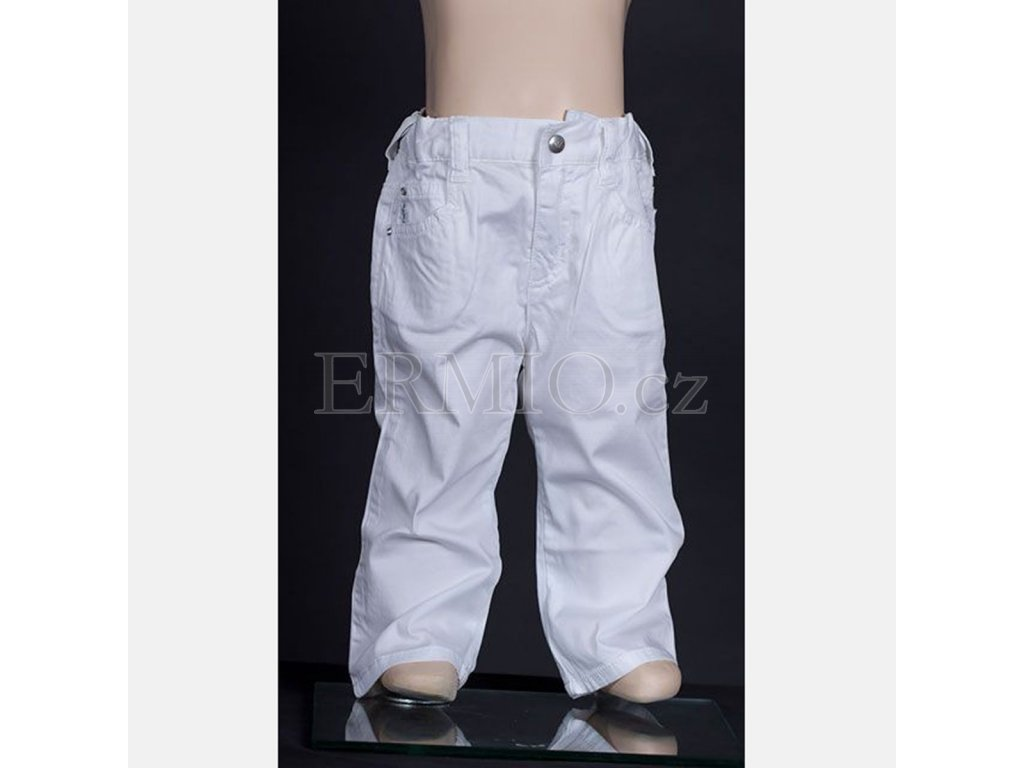 Značkové dětské džíny Armani bílé