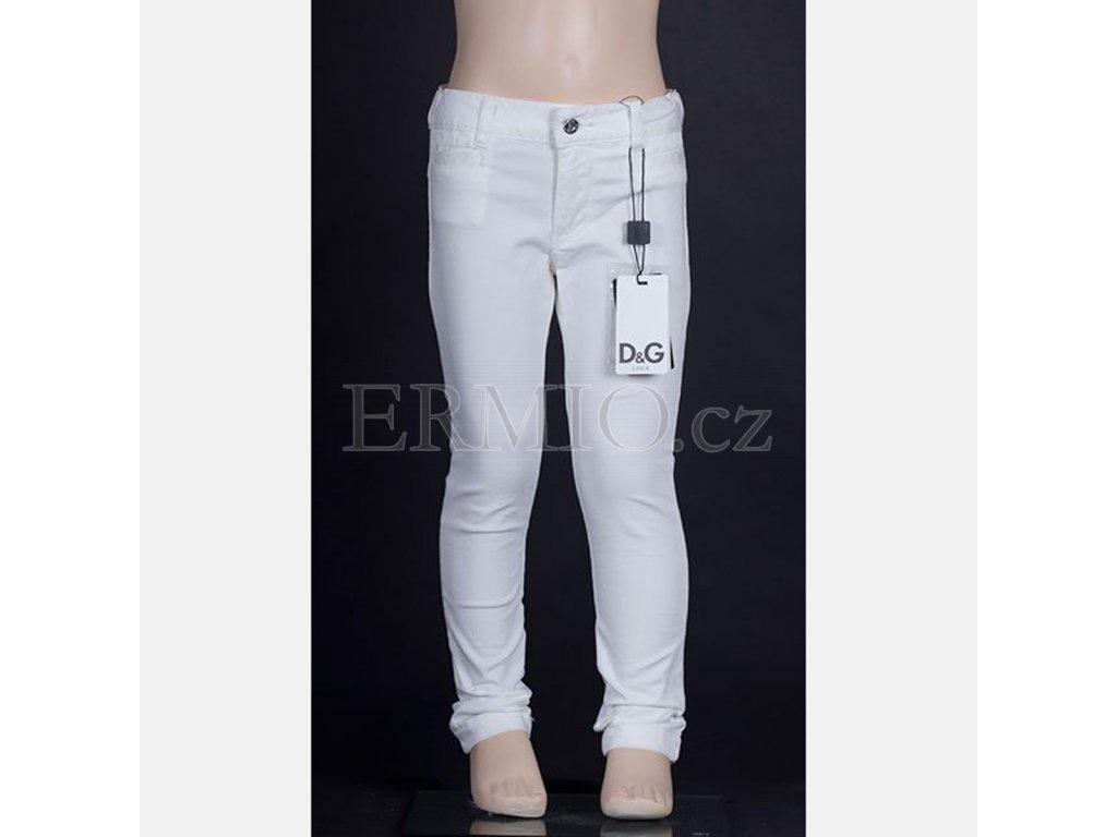 Dětské luxusní džíny D&G bílé