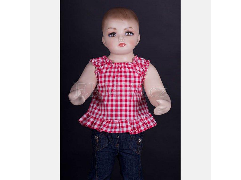 Dětská luxusní kostkovaná košile D&G červená