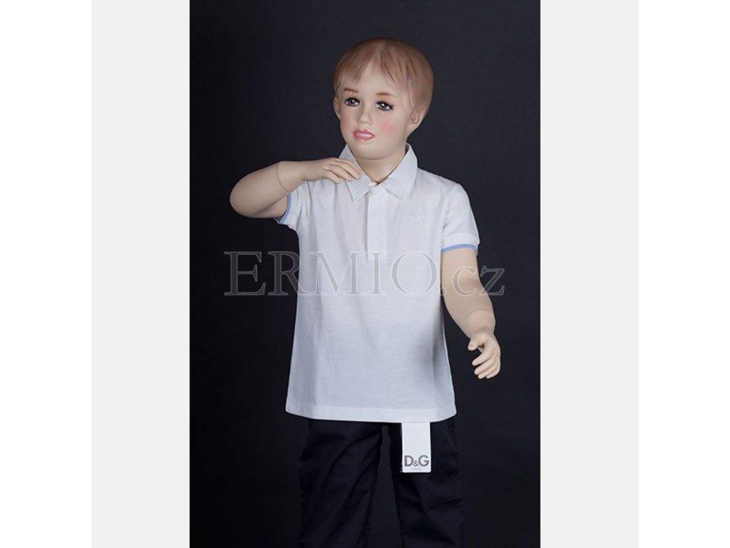 Značkové dětské polo D&G bílé