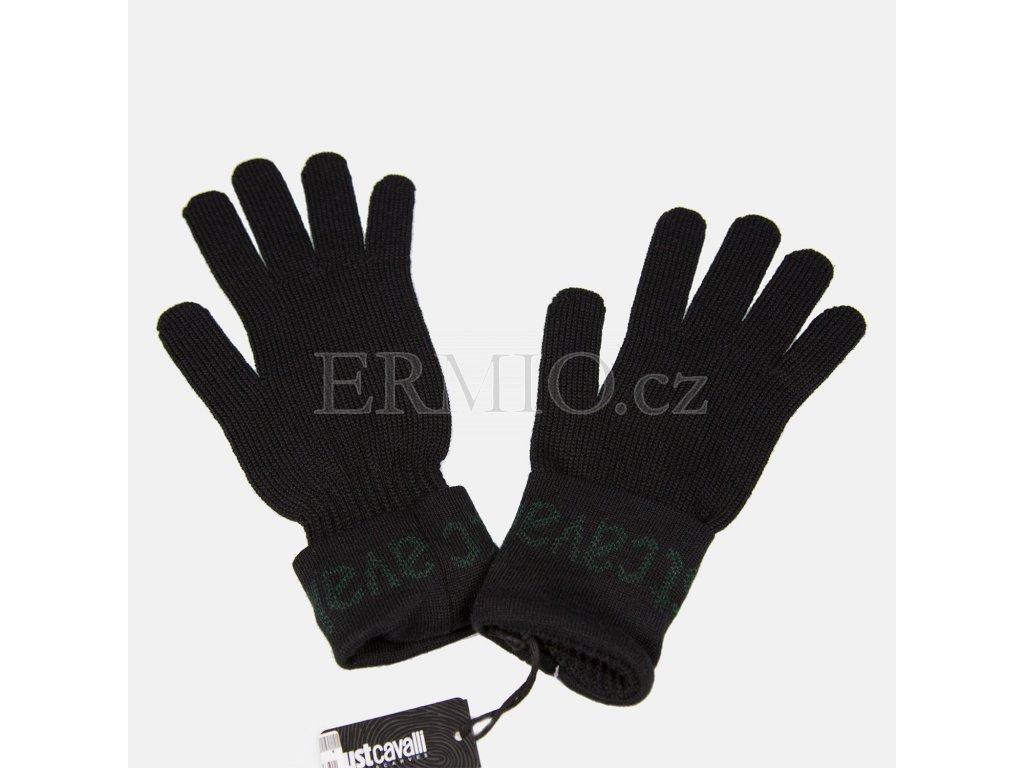 Elegantní černé rukavice Justcavalli