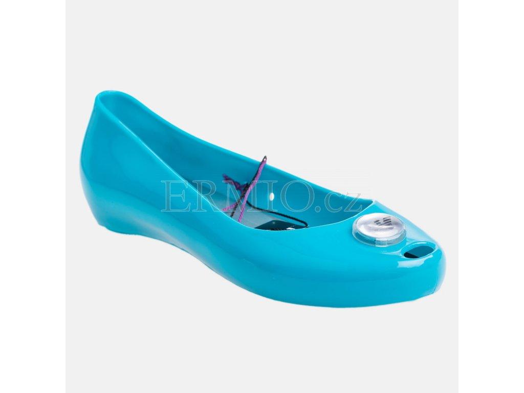 Značkové dámské balerínky Armani modré