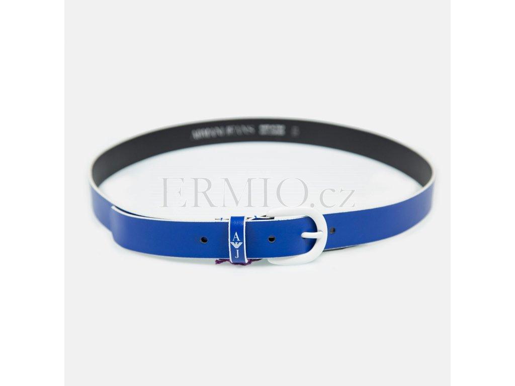 Značkový pásek Armani modrý