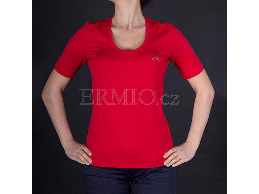 Luxusní dámské červené tričko Armani
