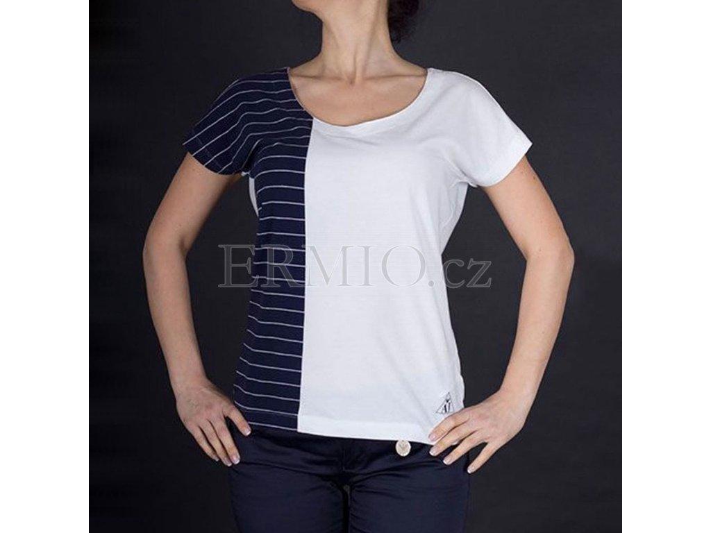 Dvoubarevné dámské tričko Armani