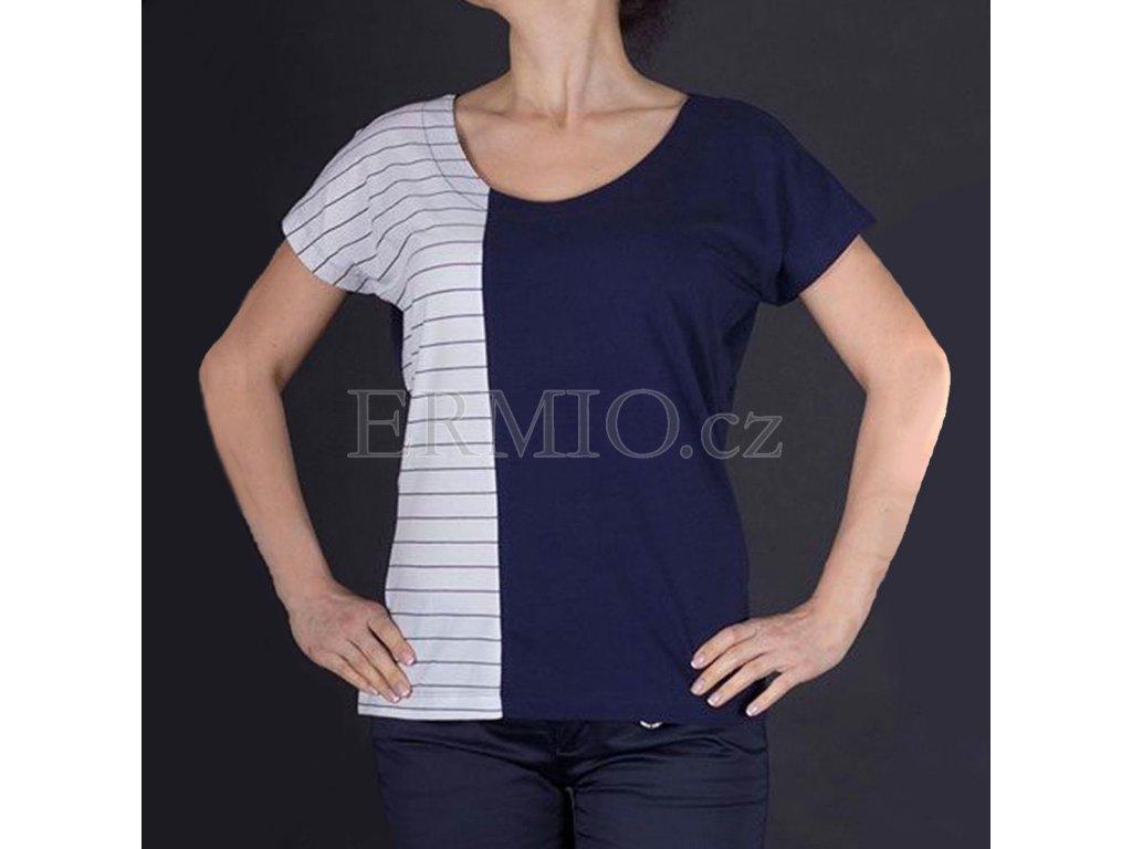 Luxusní dvoubarevné dámské tričko Armani
