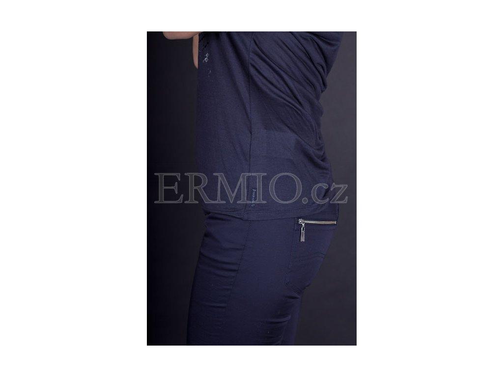 Luxusní Luxusní dámské tričko tmavě modré v e-shopu   Ermio Fashion c66130eaec