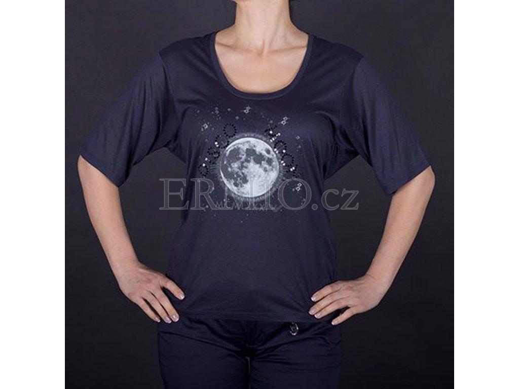 Luxusní dámské tričko tmavě modré