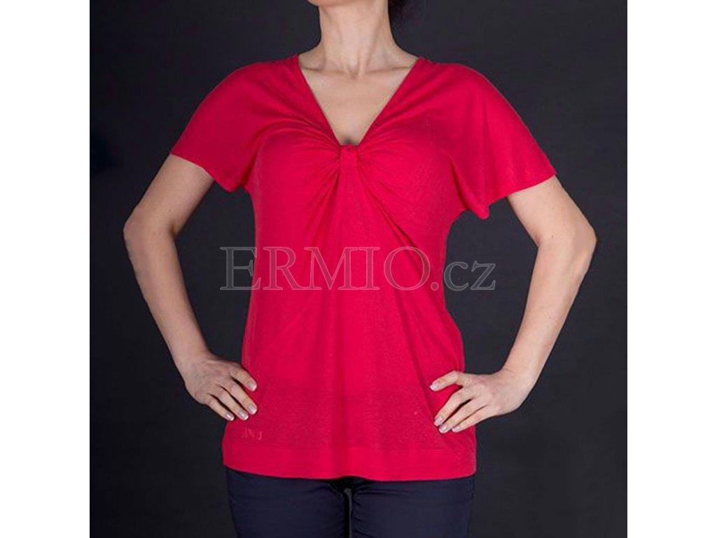 Dámské luxusní červené tričko Armani