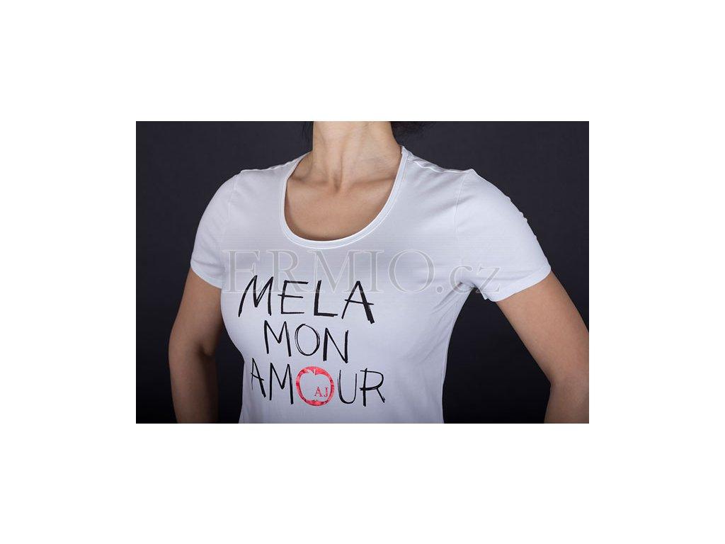 c20237ac41d6 Luxusní Dámské luxusní bílé tričko Armani v e-shopu   Ermio Fashion